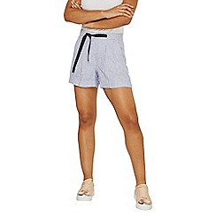 Dorothy Perkins - Blue striped chambray shorts