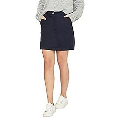 Dorothy Perkins - Navy poplin skirt