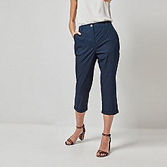 Dorothy Perkins - Navy Cropped Trousers