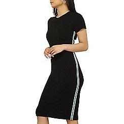 Dorothy Perkins - Petite black sport trim bodycon dress