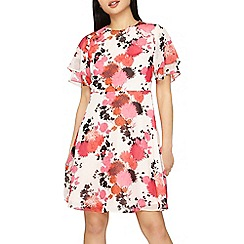 Dorothy Perkins - Petite red and pink floral tea dress