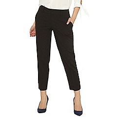 Dorothy Perkins - Petite black naples ankle grazer trousers