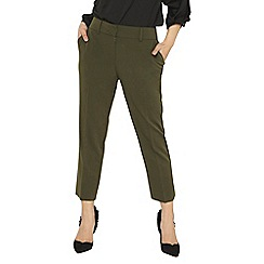 Dorothy Perkins - Petite khaki naples ankle grazer trousers