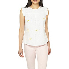 Dorothy Perkins - Petite ivory embroidered top