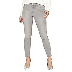 Dorothy Perkins - Petite mid grey frankie jeans