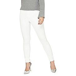 Dorothy Perkins - Petite white frankie jeans