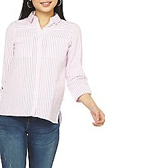 Dorothy Perkins - Petite pink textured stripe shirt