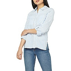 Dorothy Perkins - Petite blue textured shirt