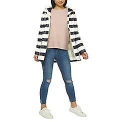 Dorothy Perkins - Petite blue striped raincoat
