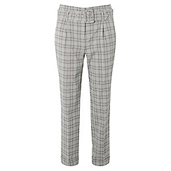 Dorothy Perkins - Petite check belted trousers
