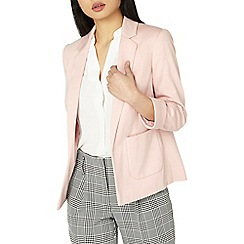 Dorothy Perkins - Petite pink ponte blazer