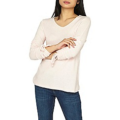 Dorothy Perkins - Petite pink ruched sleeve top