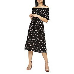 Dorothy Perkins - Petite ditsy shirred bardot dress