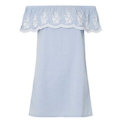 Dorothy Perkins - Petite chambray bardot dress