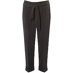 Dorothy Perkins - Petite navy tapered trousers
