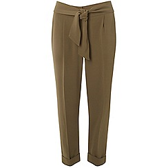 Dorothy Perkins - Petite khaki tapered trousers