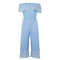 Dorothy Perkins - Petite chambray embroidered jumpsuit
