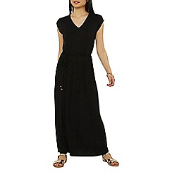 Dorothy Perkins - Petite black crochet maxi dress