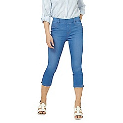 Dorothy Perkins - Petite bright blue Eden cropped jeggings