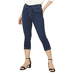 Dorothy Perkins - Petite indigo Eden cropped jeans