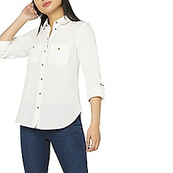 Dorothy Perkins - Petite ivory linen shirt