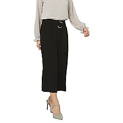 Dorothy Perkins - Petite black wide leg cropped trousers