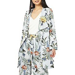 Dorothy Perkins - Petite multi coloured botanical floral print coat