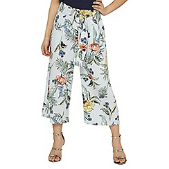 Dorothy Perkins - Petite multi coloured botanical floral print cropped trousers