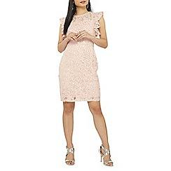 Dorothy Perkins - Petite blush pink lace shift dress