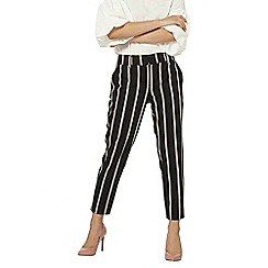 Dorothy Perkins - Petite black striped trousers