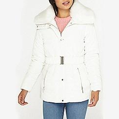 Dorothy Perkins - Petite ivory short padded jacket