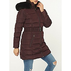 Dorothy Perkins - Petite berry and black parka