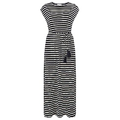Dorothy Perkins - Petite navy striped maxi dress