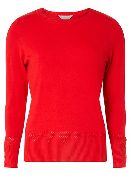 cuff jumper detail Petite Dorothy red Perkins WRqIXvz
