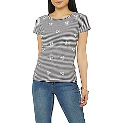 Dorothy Perkins - Petite daisy striped t-shirt