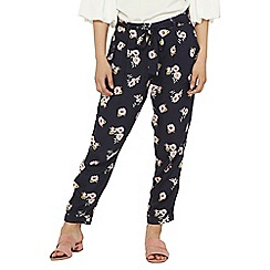 Dorothy Perkins - Petite navy daisy floral print joggers