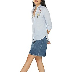 Dorothy Perkins - Petite striped embroidered shirt