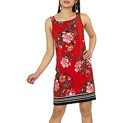 Dorothy Perkins - Petite red floral print shift dress