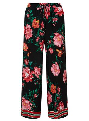 Dorothy Perkins   Petite Black Floral Palazzo Trousers by Dorothy Perkins