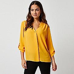 Dorothy Perkins - Petite Mango Roll Sleeve Shirt