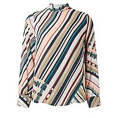 Dorothy Perkins - Petite multicoloured emily geometric striped top