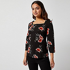 Dorothy Perkins - Petite Floral Print Square Neck Top