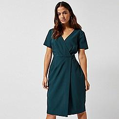 Dorothy Perkins - Green V-Neck Wrap Dress