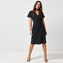 Dorothy Perkins - Black V-Neck Wrap Dress