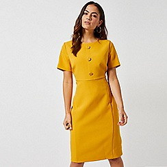 Dorothy Perkins - Petite Yellow Button Shift Dress