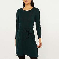 Dorothy Perkins - Petite Teal Fit and Flare Dress