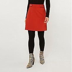 Dorothy Perkins - Petite Rust Popper Mini Skirt