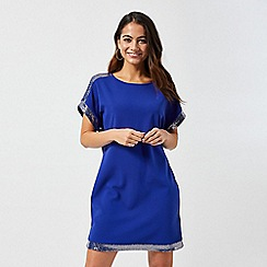Dorothy Perkins - Petite Cobalt Chainmail Shift Dress