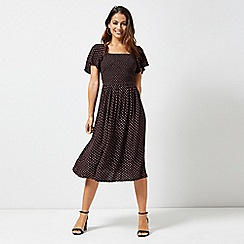 Dorothy Perkins - Petite Ginger Spot Print Midi Dress