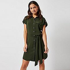 Dorothy Perkins - Petite Khaki Shirt Dress